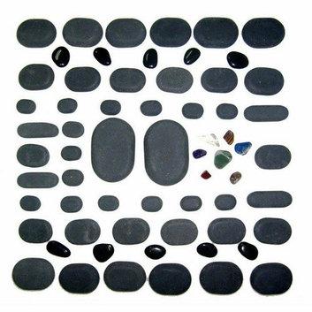 Sivan Health and Fitness Basalt Lava High Polish Hot Stone Massage Kit (Set of 60)