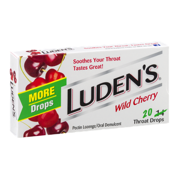 Luden's Throat Drops Wild Cherry - 20 CT