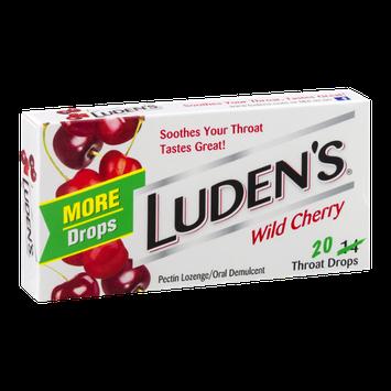 Luden's Throat Drops Wild Cherry - 20 CT