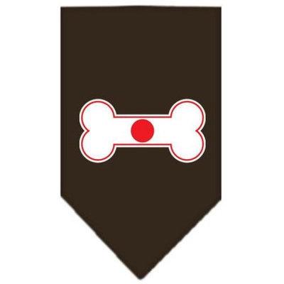 Ahi Bone Flag Japan Screen Print Bandana Cocoa Small
