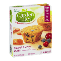 Garden Lites Carrot Berry Muffins - 4 CT