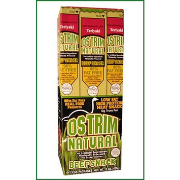 Ostrim Teriyaki Natural Beef Sticks, 1.5-Ounce (Pack of 10)