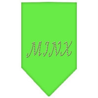 Mirage Pet Products 6748 SMLG Minx Rhinestone Bandana Lime Green Small