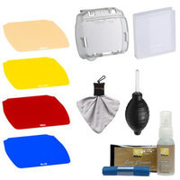 Nikon SJ-4 Speedlight Color Filter Set for the SB-700 Flash with + Cleaning Kit