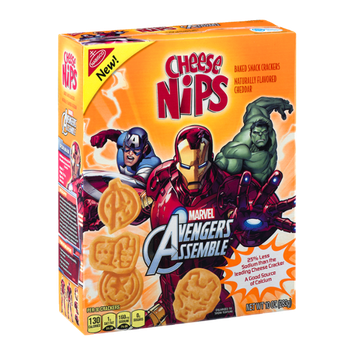 Cheese Nips Marvel Avengers Assemble Baked Snack Crackers
