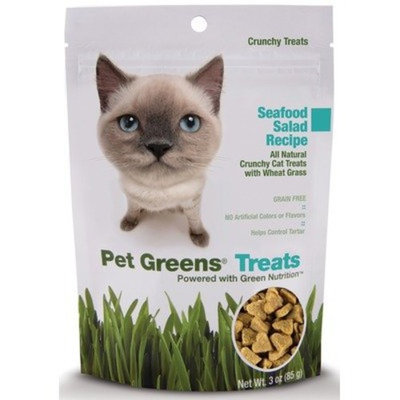 Bell Rock Growers Pet Greens Treats Seafood Salad Crunchy Cat Treat