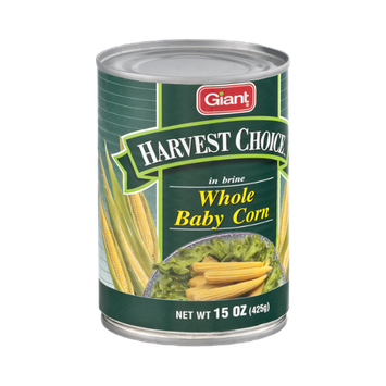 Giant Harvest Choice Whole Baby Corn