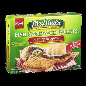 Mrs. Paul's Fish Sandwich Fillets Spicy Recipe - 6 CT