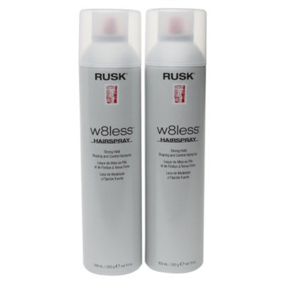 Rusk W8less Shaping & Control Hair Spray, Strong Hold - Double Pack, 1 set