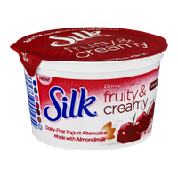 Silk Dairy-Free Fruity & Creamy Black Cherry Yogurt Alternative