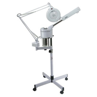Br Beauty 2 in 1 Ozone Facial Steamer & Mag Lamp Combo