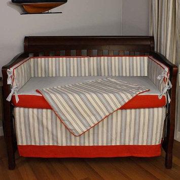Hoohobbers Stellar Stripes 4 pc. Crib Bedding Set