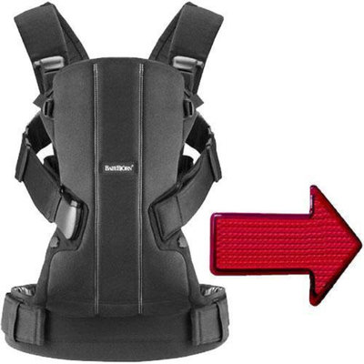 Baby Bjorn - Baby Carrier We with LED Light - Black Cotton