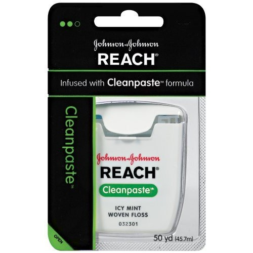 Reach Cleanpaste Dental Floss, Icy Mint Flavor, 50-Yard Dispensers (Pack of 6)