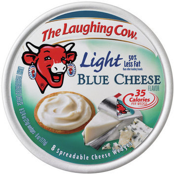 The Laughing Cow Light Blue Cheese Spreadable Wedges, 8 count, 8.75 oz