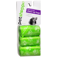 Pet Shoppe Clean Up Bags Refill, Green, 3 ea