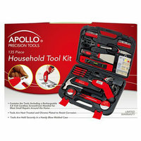 American Fulfillment Apollo Household Tool Kit - Red (135 Pc)
