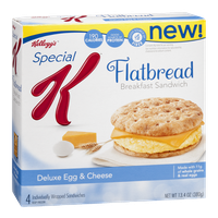 Kellogg's Special K Flatbread Breakfast Sandwich Deluxe Egg & Cheese - 4 CT