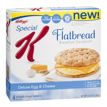 Kellogg's Special K Flatbread Breakfast Sandwich Deluxe Egg & Cheese - 4 CT