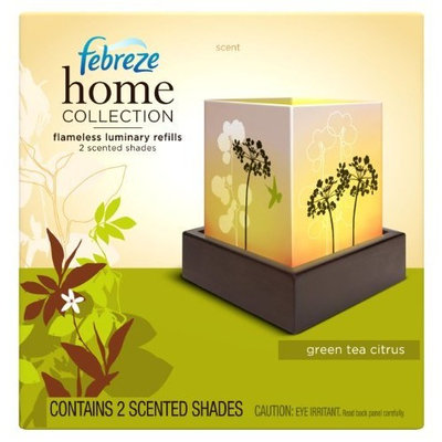 Febreze Home Collection Flameless Luminary Refill Shades, Green Tea Citrus - one box of 2 refills