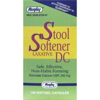 Watson Rugby Labs Stool Softener Docusate Calcium 240 mg 100 Sgels