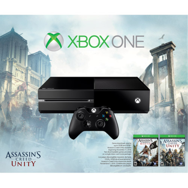 Microsoft Xbox One 500GB Console Bundle with Assaasin's Creed Unity and Black