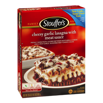 Stouffer's Cheesy Garlic Lasagna with Meat Sauce