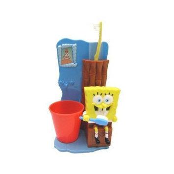 mzb Spongebob Great Smile Toothbrush Gift 3 Pcs Set (Toothbrush Holder, Toothbrush, Rinse Cup)