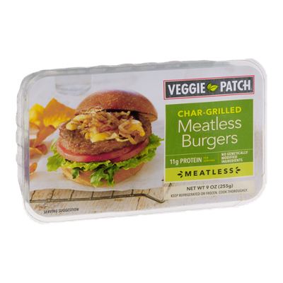 Veggie Patch Char-Grilled Meatless Burgers