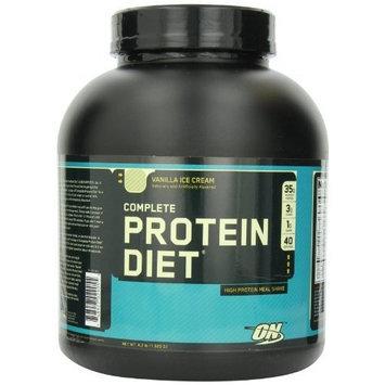 Optimum Nutrition Complete Protein Diet Meal Shake Mix, Vanilla Ice Cream, 4.2 Pound