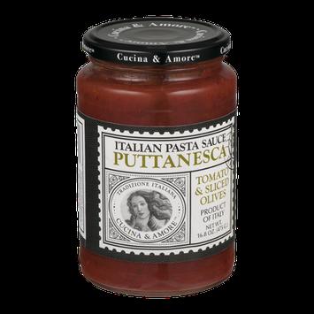 Cucina & Amore Italian Pasta Sauce Puttanesca Tomato & Sliced Olives