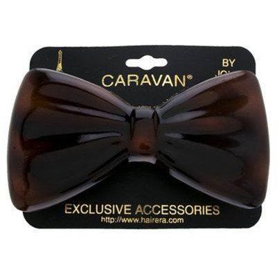 Caravan Tortoise Shell Barrette, Bow, Automatic