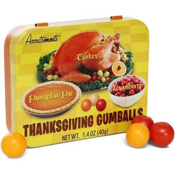 Melissa's Combo Gift Pack of 5: Thanksgiving Gumballs- Turkey, Cranberry, & Pumpkin Pie Flavored Gum