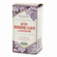 ReserveAge Organics Active Ubiquinol CoQ10 with Resveratrol LiCaps