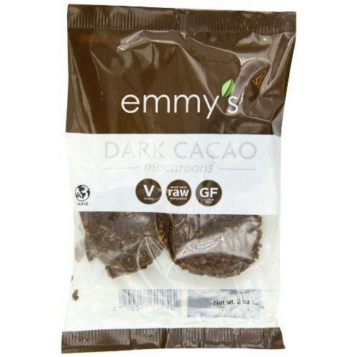 Emmy's Macaroons, Dark Cacao, 2 Ounce (Pack of 12)