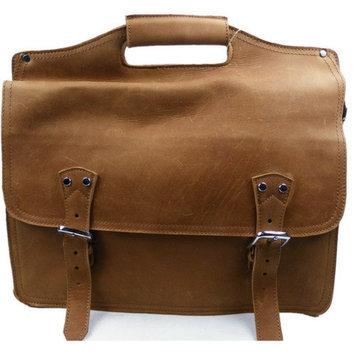 Vagabond Traveler Easy Access Leather Laptop Briefcase