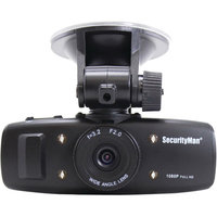 Security Man HD Car Camera with Impact Sensing Recording and Rechargeable Battery (Black)