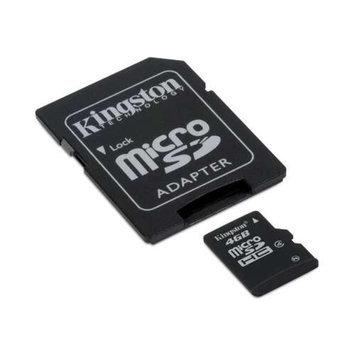 Kingston - Flash memory card - 4 GB - Class 4 - microSDHC
