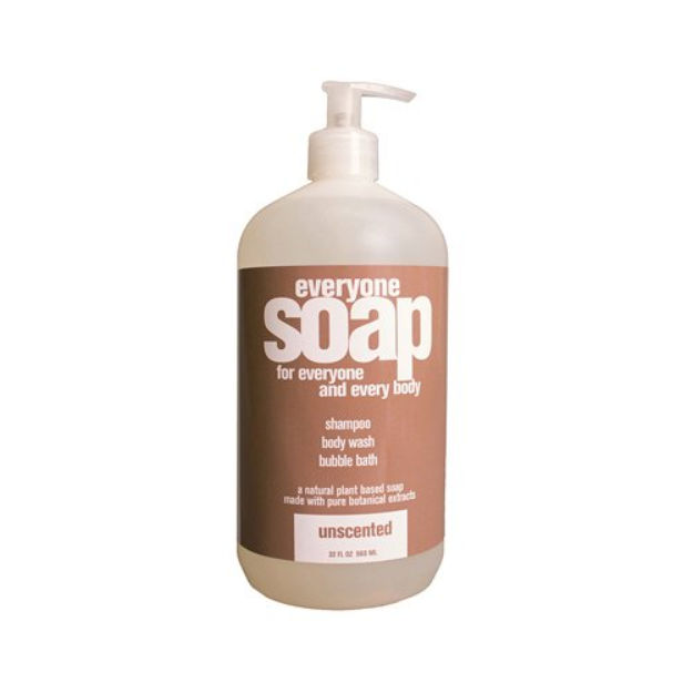 EO Everyone Soap: Shampoo, Body Wash, Bubble Bath, Unscented, 32 oz