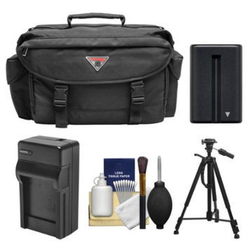 Precision Design 2000 Digital SLR Camera Case with Battery & Charger + Tripod + Kit for Sony Alpha DSLR SLT-A57, A58, A65, A77, A99