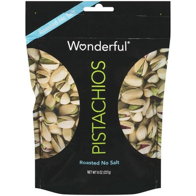 Wonderful Roasted No Salt Pistachios, 8 oz