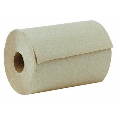 Windsoft WIN 108 Nonperforated Hardwound Roll Towel 8 in. x 5.5 in. - Natural Brown