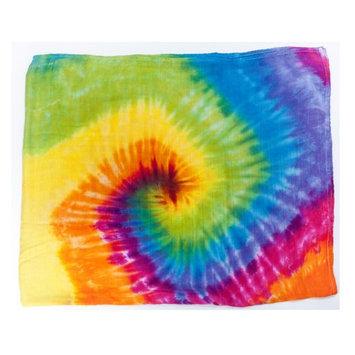 Austin Tie Dye Co Bamboo Swaddle Blanket - Rainbow Tie Dye