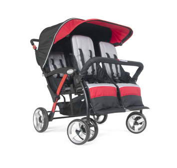 Foundatons Worldwide Foundations Quad Sport 4-passenger Stroller in Red
