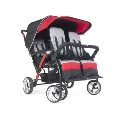 Foundatons Worldwide Foundations Quad Sport 4-passenger Stroller in Red