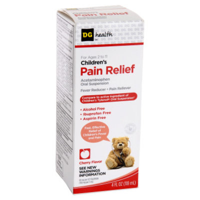 DG Health Children's Pain Relief Oral Suspension - Cherry Flavor