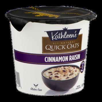 Kathleen's Quick Oats Cinnamon Raisin