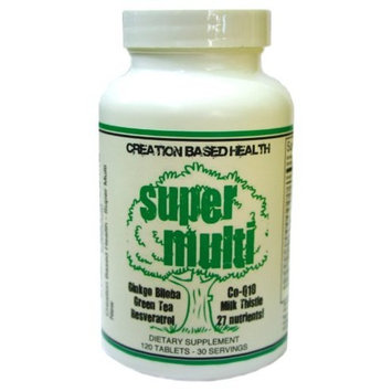 Creation Based Health CBH Super Multivitamin for Men and Women: Astaxanthin, K2 Mk-4 and MK-7, CoQ10, Green Tea, Milk Thistle, Resveratrol, and 4000 IU D3!