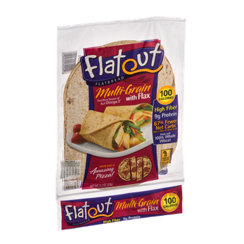 Flatout Flatbread Wraps Multi-Grain With Flax - 6 CT