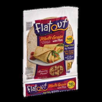 Flatout Flatbread Wraps Multi-Grain With Flax - 6 CT
